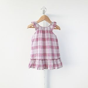 Burberry Children Taia Plaid Check Dress